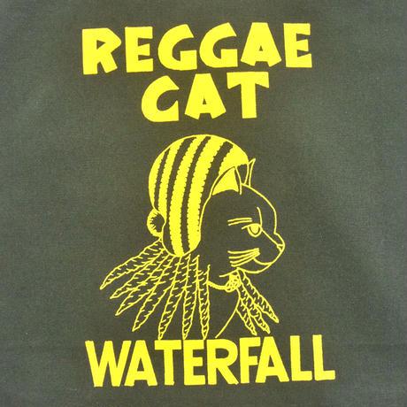 「猫レゲエ」猫ツアートートバック レコードバッグ  モスグリーン F  WATERFALLオリジナル商品