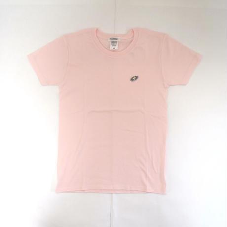 「 レコードワッペンワンポイントTシャツ(※レディース)」 フロピンク WATERFALL WM / WL