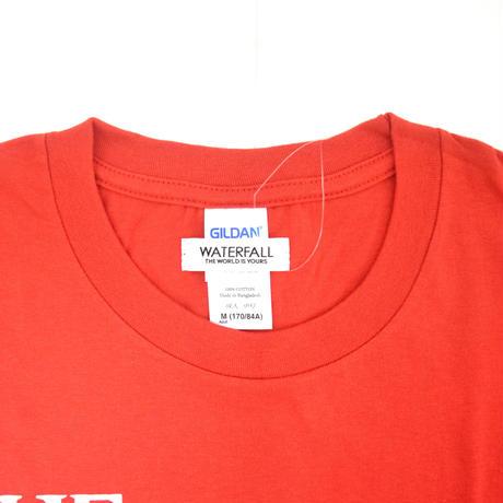 「猫バンド」レコードワッペン猫ツアーTシャツ 2020SS新色 レッド S/M/L WATERFALL限定商品