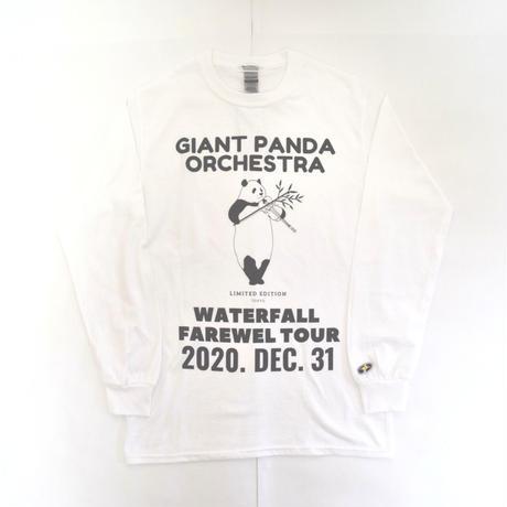 「シャンシャンバイオリン」パンダツアー長袖Tシャツ  ホワイト S/M/L WATERFALLオリジナル商品