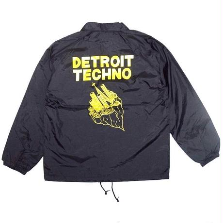 「レコードワッペンコーチJK(DETROIT TECHNO)」 ブラック  S/M/L/XL WATERFALL新作