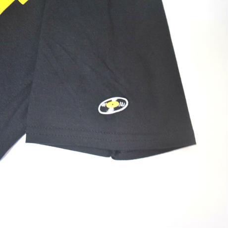 「DJ猫」レコードワッペン猫ツアーTシャツ  ブラック S/M/L WATERFALLオリジナル限定商品
