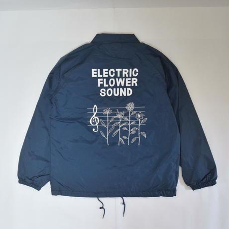 「レコードワッペンコーチJK(ELECTRIC FLOWER)」 ネイビー S/M/L/XLWATERFALL新作
