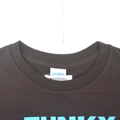 「猫ドラム」レコードワッペン猫ツアーTシャツ  2021SS新色 ブラウン S/M/L WATERFALL限定商品