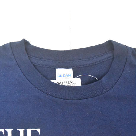 「猫バンド」レコードワッペン猫ツアーTシャツ 2021SS新色 ネイビー S/M/L WATERFALL限定品