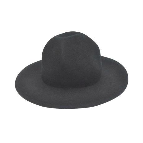 「レコードワッペンマウンテンハット」 ブラック F 秋冬 山高帽  WATERFALL ユニセックス