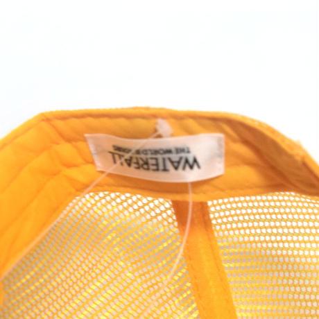 「レコードワッペンロゴメッシュキャップ」 オレンジ F 2021春夏 復刻 WATERFALL