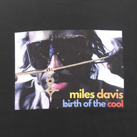 「MILES DAVIS」ブラック ジャズスウェット(写真家・内山繁氏コラボ) WATERFALL S/ M/ L/ XL