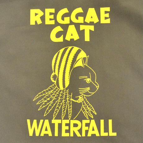 「猫レゲエ」猫ツアートートバック レコードバッグ  カーキ F  WATERFALLオリジナル限定商品
