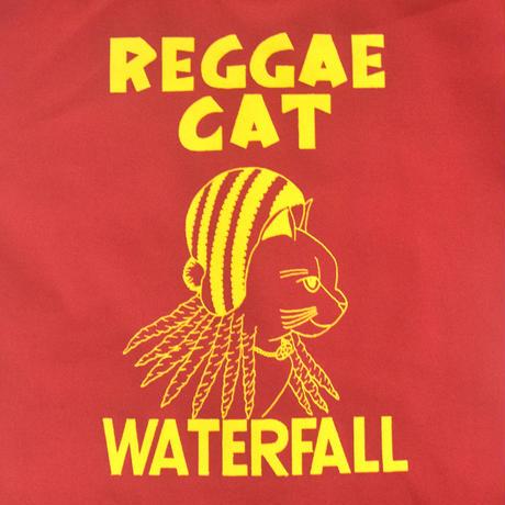 「猫レゲエ」猫ツアートートバック レコードバッグ  レッド F  WATERFALLオリジナル限定商品