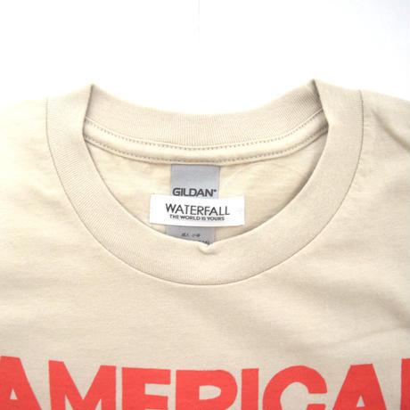 「猫ベース」レコードワッペン猫ツアーTシャツ 2021SS新色 サンド S/M/L WATERFALL限定商品
