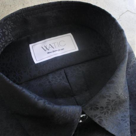 WA Oversize Shirt - 押花模様(黒)