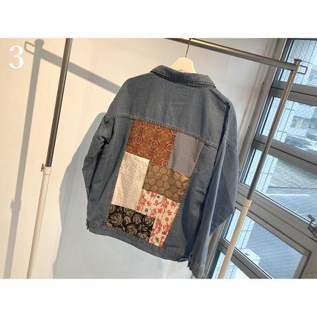 WAGARA Patchwork Denim Jacket - BLUE