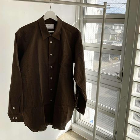 WA Oversize Shirt - 和風無地(茶)