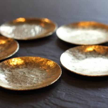 鎚目模様の真鍮豆皿 [ 満月豆皿 ]