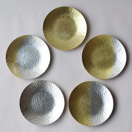 鎚目模様の真鍮月皿セット