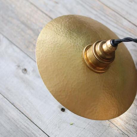 鎚目模様のシェードランプ E26お皿型 真鍮180mm