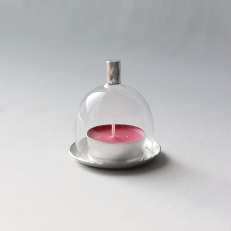 ミニミニガラスドーム [ 錫銀 ]