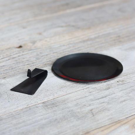 小さい蚊取り線香立て  [ ヨコ ]黒染