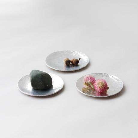 鎚目模様のアルミ豆皿 3枚組