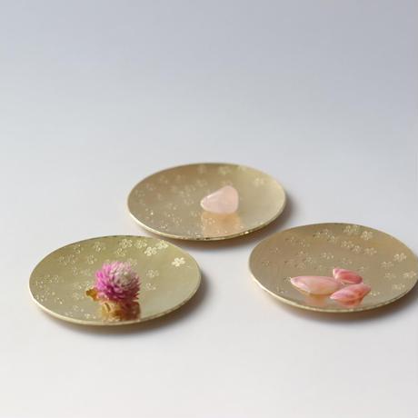真鍮の桜豆皿