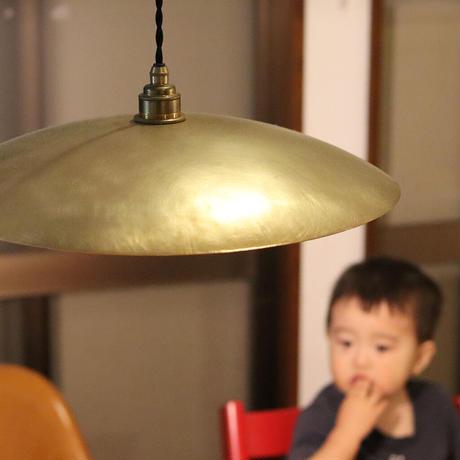 大きめサイズ:ランプシェード435mm真鍮プレーンE26