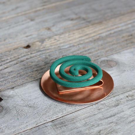 小さい蚊取り線香立て  [ ヨコ ]純銅