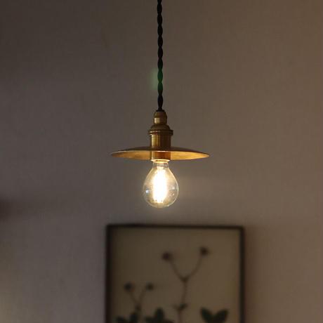 鎚目模様の小さいシェードランプ 2灯セット E17お皿型 真鍮素地120mm\少々傷ありアウトレット/
