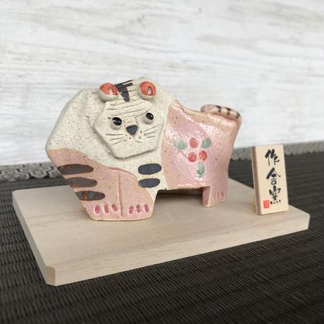 Tiger-Japanese Zodiac(blown/pink) / Hand-made