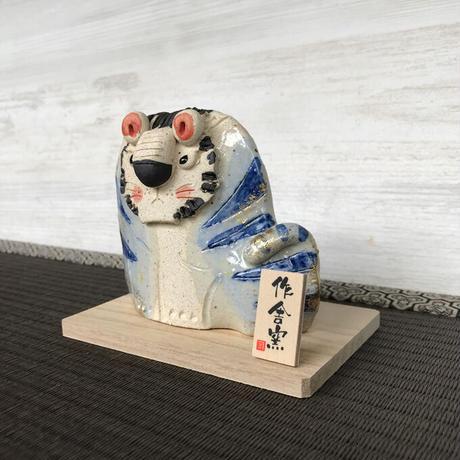 Tiger-Japanese Zodiac(blue) / Hand-made