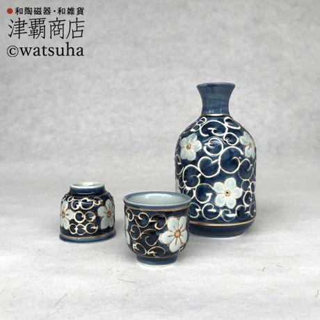 Sake set(1bottle+2cup)/FLOWER ARABESQUE