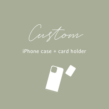[CUSTOM] Phone case + card holder ※iPhone 12対応