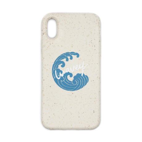 """This is Wavey"" logo eco phone case -Shiro-"