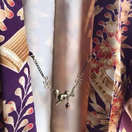 子リスとどんぐり鈴の羽織紐