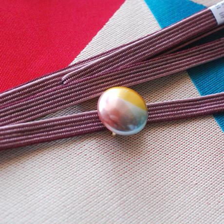 3色パールの帯留