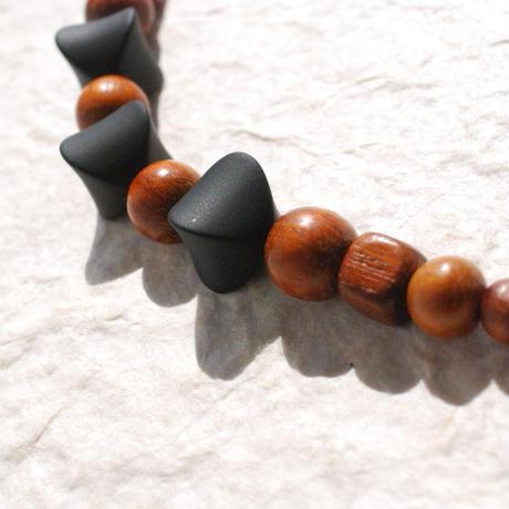 男性用羽織紐(13)黒×茶