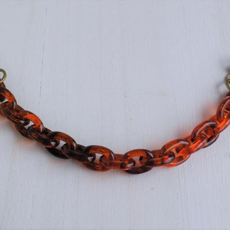 【男性用羽織紐】べっ甲色チェーンの羽織紐