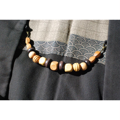 ウッドビーズの男性用羽織紐(18)