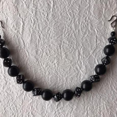 黒のサイコロ男性用羽織紐(110)