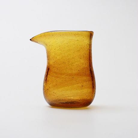吹きガラス ピッチャー(茶)
