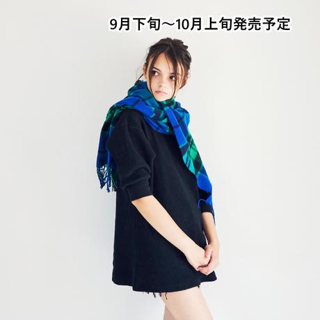 チェックウールマフラー【WCJ-CO-026BU】