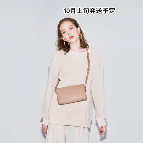 お財布機能付き配色ショルダーバッグ【WCJ-MT-041BE】