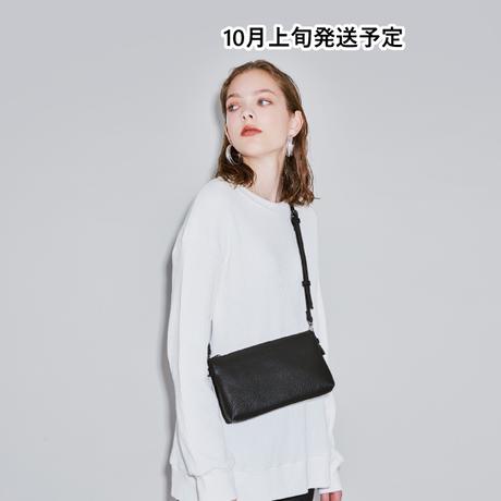 お財布機能付き配色ショルダーバッグ【WCJ-MT-041BK】
