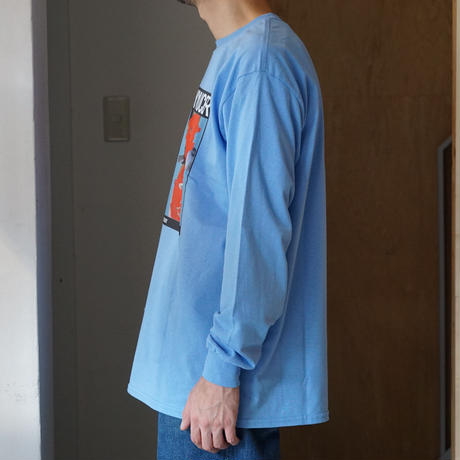 FLYING SOY SAUCER*Talking Saucer Long Sleeve Tee*CA BLUE