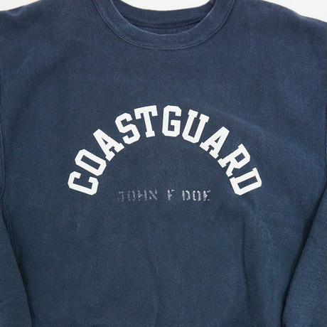 "USED CHAMPION R/W CREW SWEAT Re-Print ""COAST GUARD"""