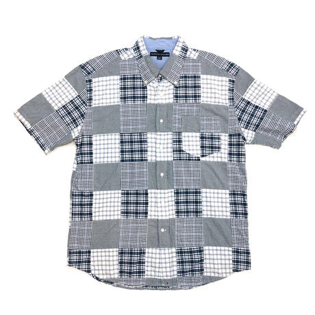 TOMMY HILFIGER*USED BD S/S CHECK SHIRT