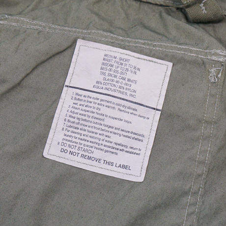 US ARMY*SNOW COMO PANTS with POCKET*DYED OLIVE