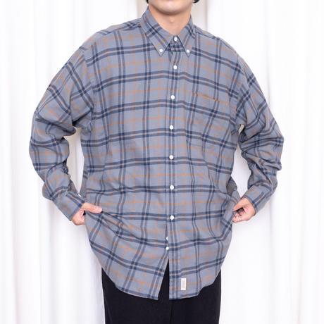 SEDAN ALL-PURPOSE*Plaid Flannel Big BD Shirts*Grey Plaid