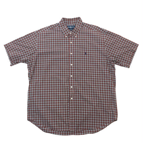 RALPH LAUREN*USED BD S/S CHECK SHIRT