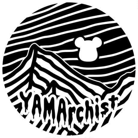 "BRINGxMOUNTAINJAM  DRYCOTTONY Long sleeve T-shirt ""YAMArchist"" White"